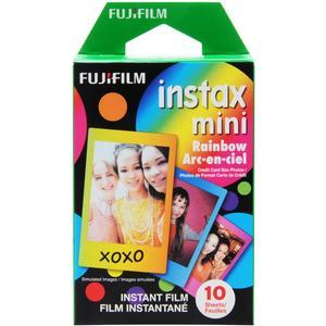 Fujifilm Instax Mini Rainbow Instant Film-10 Color Prints -