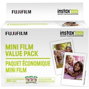 Fujifilm Instax Mini Instant Film Value Pack-60 Color Prints -