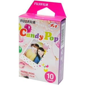 Fujifilm Instax Mini Candy Pop Instant Film-10 Color Prints -