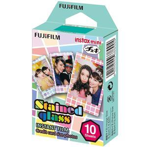 Fujifilm Instax Mini Stained Glass Instant Film-10 Color Prints -