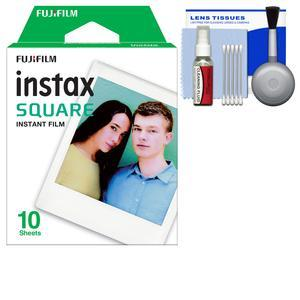 Fujifilm Instax WW1 Square Instant Film - 10 Color Prints - with Cleaning Kit