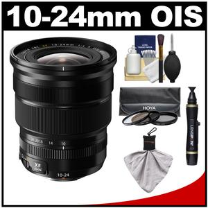 Fujifilm 10-24mm f/4.0 XF R OIS Zoom Lens with 3 Hoya UV/CP/ND8 Filters + Accessory Kit
