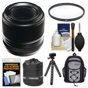 Fujifilm 60mm f-2.4 XF R Macro Lens with Backpack + Pouch + Tripod + Filter + Kit