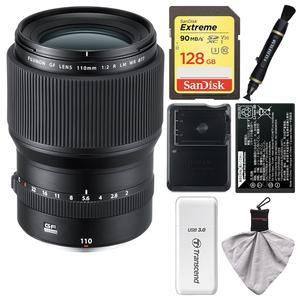 Fujifilm GF 110mm f-2.0 R LM WR Lens with 128GB Card + Battery and Charger + Kit