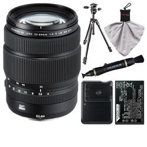 Fujifilm GF 32-64mm f-4.0 R LM WR Lens with Battery and Charger + Tripod + Kit