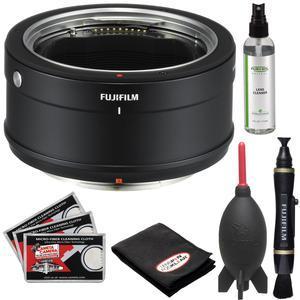 Fujifilm H Mount Adapter G for GFX 50S with Lenspen Brush + Optical Cleaner + Giottos Blower + Kit