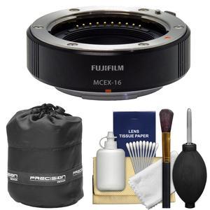 Fujifilm MCEX-16 Macro Extension Tube with Lens Pouch and Cleaning Kit