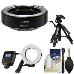 Fujifilm MCEX-16 Macro Extension Tube with Macro Flash and Tripod and Kit