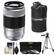 Fujifilm 50-230mm f/4.5-6.7 XC OIS Zoom Lens (Silver) with 3 UV/CPL/ND8 Filters + Lens Pouch + Tripod + Accessory Kit