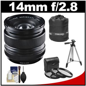 Fujifilm 14mm f/2.8 XF R Lens with 3 UV/CPL/ND8 Filters + Lens Pouch + Tripod + Accessory Kit