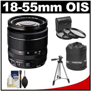 Fujifilm 18-55mm f/2.8-4.0 XF R LM OIS Zoom Lens with 3 UV/CPL/ND8 Filters + Lens Pouch + Tripod + Accessory Kit