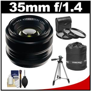 Fujifilm 35mm f/1.4 XF R Lens with 3 UV/CPL/ND8 Filters + Lens Pouch + Tripod + Accessory Kit