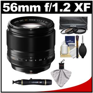 Fujifilm 56mm f/1.2 XF R Lens with 3 UV/CPL/ND8 Filters + Accessory Kit