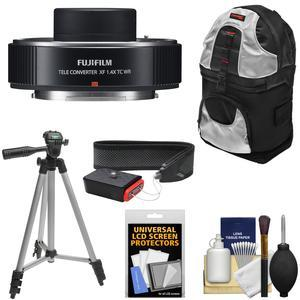 Fujifilm Fujinon XF 1.4x TC WR Teleconverter with Sling Backpack and Tripod and Strap and Kit