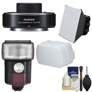 Fujifilm Fujinon XF 1.4x TC WR Teleconverter with Flash and Diffusers and Kit