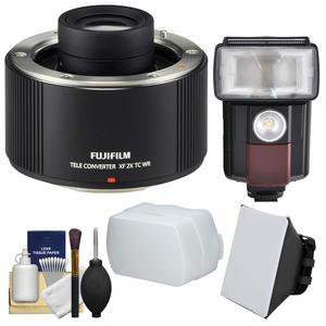 Fujifilm Fujinon XF 2x TC WR Teleconverter with Flash and LED Video Light + Diffuser + Soft Box + Kit