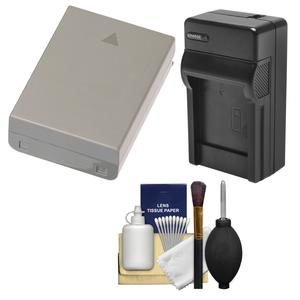 BLN-1 Battery and Charger Essential Bundle for Olympus OM-D E-M1 E-M5 E-M5 Mark II PEN E-P5 PEN-F