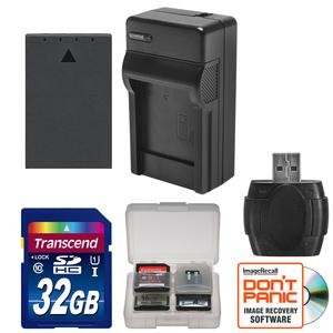 BLS-1- BLS-5 Battery and Charger and 32GB SD Card Essential Bundle for Olympus OM-D E-M10 E-M10 II PEN E-PL5 E-PL6 E-PM2
