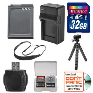 EN-EL12 Battery and Charger + 32GB SD Card Tripod and Strap Essential Bundle for Nikon Coolpix A900 AW120 AW130 P340 S9700 S9900 Digital Camera