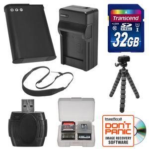 EN-EL23 Battery and Charger and 32GB SD Card Tripod and Strap Essential Bundle for Nikon Coolpix B700 S810c P600 P610 P900 Digital Camera