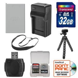 EN-EL5 Battery and Charger + 32GB SD Card Tripod and Strap Essential Bundle for Nikon Coolpix P520 P530 Digital Camera