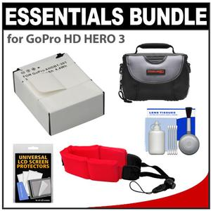 Cheap Offer Essentials Bundle for GoPro HD HERO 3 Camera with AHDBT-301 Battery + Case + Floating Strap + Accessory Kit Before Special Offer Ends