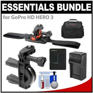 Deals Essentials Bundle for GoPro HD HERO 3 Action Camcorder with Handlebar Bike & Vented Helmet Mounts + Battery + Charger + Case + Accessory Kit Before Too Late