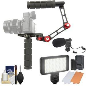 Hondo Garage HG-MR Pop and Lock Mini Camera Rig with Microphone and LED Video Light and Kit