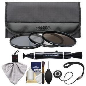 Hoya 62mm II (HMC UV / Circular Polarizer / ND8) 3 Digital Filter Set with Pouch with Lenspen + Spudz + Cleaning Kit