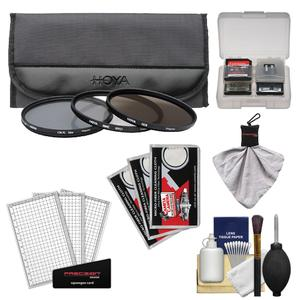 Hoya 67mm II (HMC UV / Circular Polarizer / ND8) 3 Digital Filter Set with Pouch with Cleaning + Accessory Kit