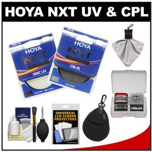 Hoya 55mm NXT - HMC UV + Circular Polarizer - Multi-Coated Glass Filters with Filter Case + Accessory Kit