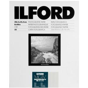 Ilford Multigrade IV Resin Coated RC DE LUXE 8 x 10 Paper-25 Sheets-Pearl -