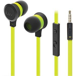 iLuv Neon Sound High-Performance Inner Ear Headphones with SpeakEZ Remote - Green -