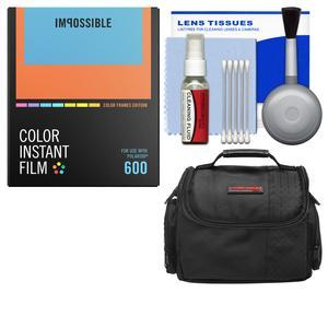 Essentials Bundle for Impossible Project I-1 Analog Instant Camera with PRD-4522 Color Instant Film + Case + Cleaning Kit