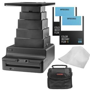 Impossible Instant Lab 2.0 Universal for Tablets and Smartphones with-2-PRD4514 Color Instant Film and Case and Kit