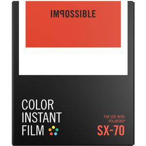 Impossible PRD-4512 Color Instant Film - Classic White Frame - for Polaroid SX-70 Cameras