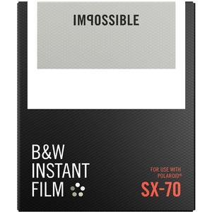 Impossible PRD-4513 Black and White Instant Film-Classic White Frame-for Polaroid SX-70 Type Cameras