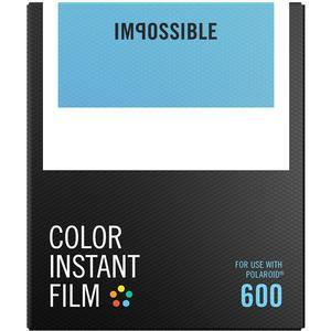 Impossible PRD-4514 Color Instant Film-Classic White Frame-for Polaroid 600-Type Cameras