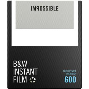Impossible PRD-4516 Black & White Instant Film (Classic White Frame) for Polaroid 600-Type Cameras