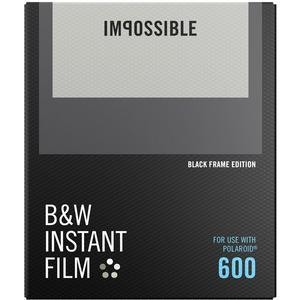 Impossible PRD-4517 Black and White Instant Film-Black Frame-for Polaroid 600-Type Cameras