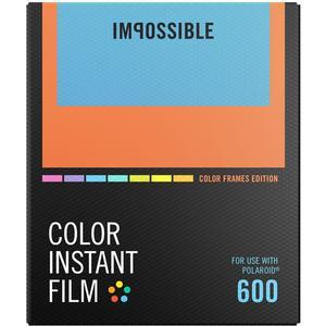 Impossible PRD-4522 Color Instant Film-Color Frame Edition-for Polaroid 600-Type Cameras