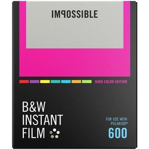 Impossible PRD-4523 Black and White Instant Film-Hard Color Frame-for Polaroid 600-Type Cameras