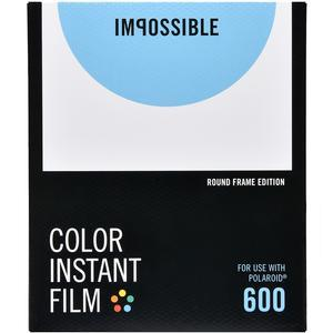 Impossible PRD4524 Color Instant Film (Round White Frame Edition) for Polaroid 600-Type Impluse & Impossible Project I-1 Cameras