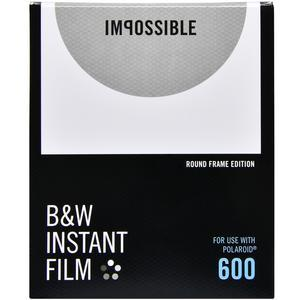 Impossible PRD4525 Black & White Instant Film (Round White Frame Edition) for Polaroid 600-Type Impluse & Impossible Project I-1 Cameras