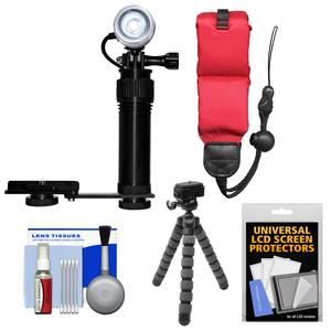 Intova I-AVL Underwater LED Action Video Light with Camera Bracket Mount with Floating Strap and Flex Tripod and Kit