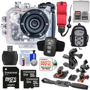 Intova HD2 Marine Grade HD Video Action Camera Camcorder with Video Light with - 2x - 32GB Cards + Remote + Action Mounts + Backpack + Float Strap + Kit