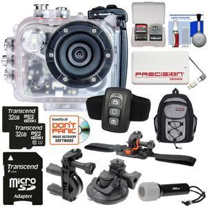Intova HD2 Marine Grade HD Video Action Camera Camcorder with Video Light with - 2x - 32GB Cards + Remote + Action Mounts + Backpack + Power Bank + LED Torch + Kit