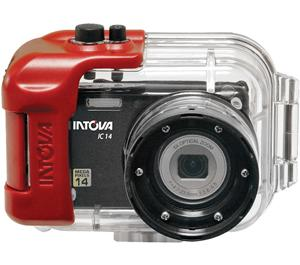 Intova IC14 Sports Digital Camera with 180' Waterproof Housing (Black)