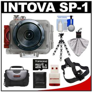 Intova Sport Pro Waterproof HD Sports Video Camera Camcorder with Helmet Mount + 16GB Card + Case + Flex Tripod + Accessory Kit