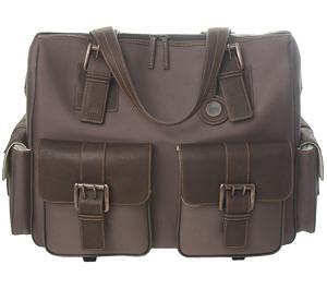 Jill-e Jack Rolling Satchel Nylon & Leather Digital SLR Camera Bag (Brown)